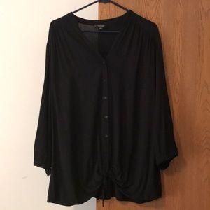 Spense Woman Button front tie waste blouse
